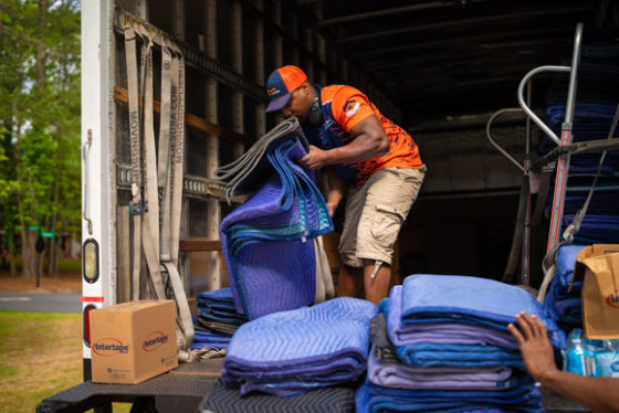 Men Loading Mats into Truck with a Moving Company in Sandy Springs, GA