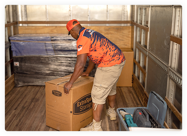 Commercial office mover in Mariettta, GA loading a moving truck