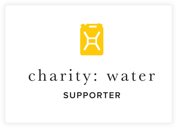 Charity: Water Supporter logo