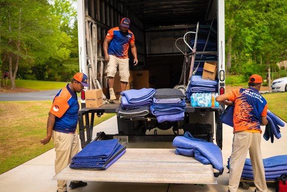 Commercial Movers in Sandy Springs loading a moving truck